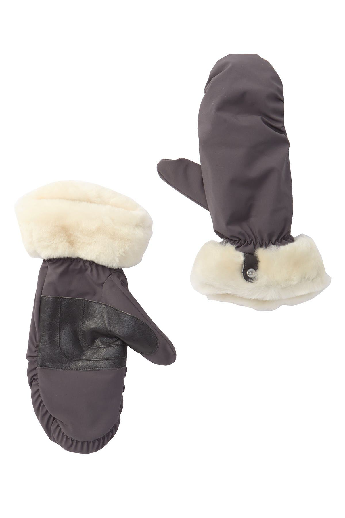 Image of UGG Fontanne Water Resistant Genuine Shearling Trim Mittens
