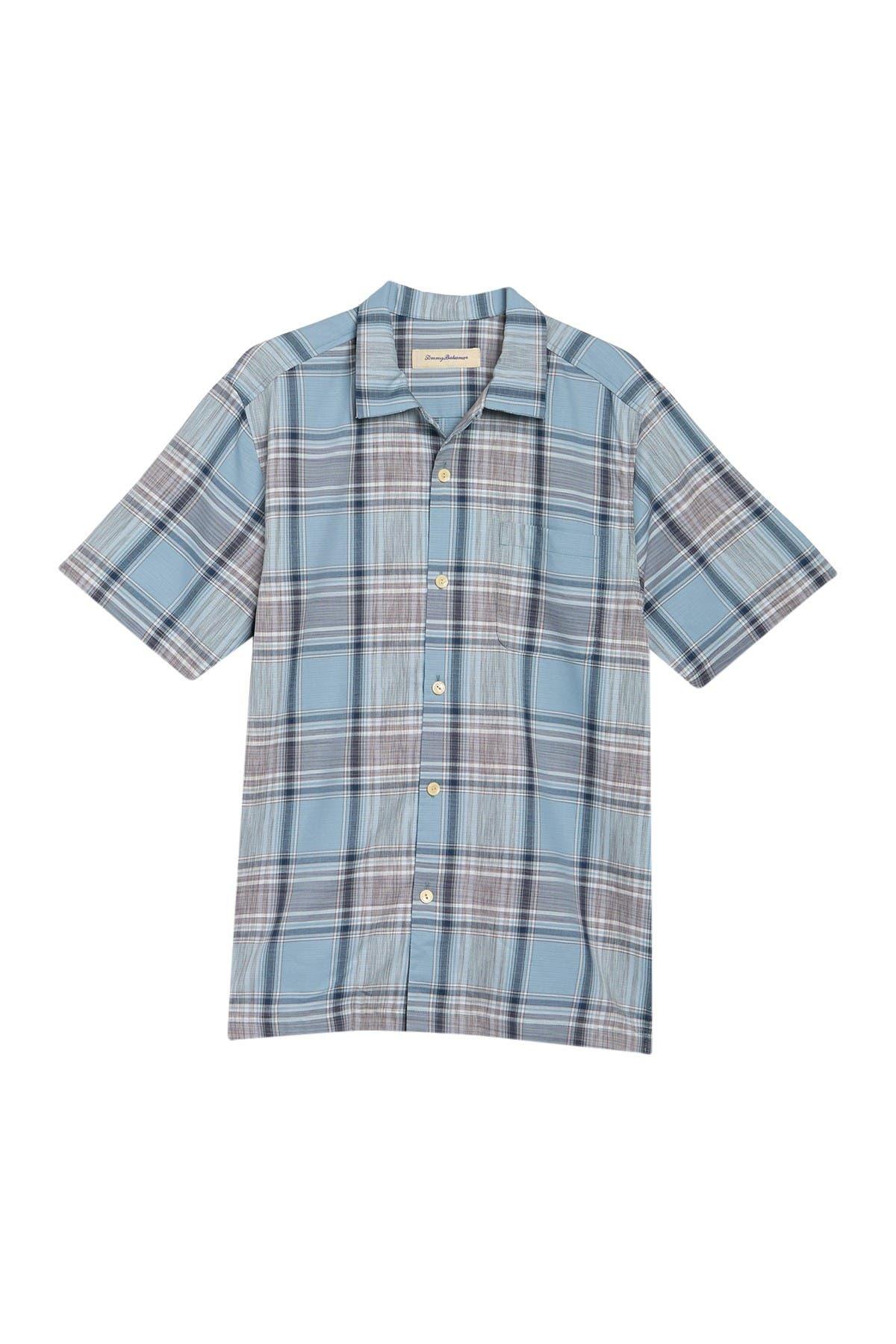 Image of Tommy Bahama Orcona Beach Plaid Regular Fit Short Sleeve Shirt