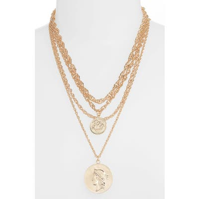 8 Other Reasons Rex Layered Coin Pendant Necklace