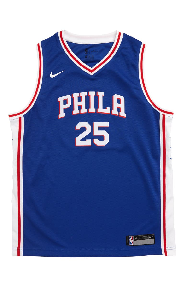 NIKE NBA Philadelphia 76ers Ben Simmons Basketball Jersey, Main, color, RUSH BLUE