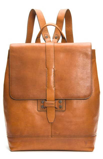 Frye Backpacks BOWERY LEATHER BACKPACK - BROWN