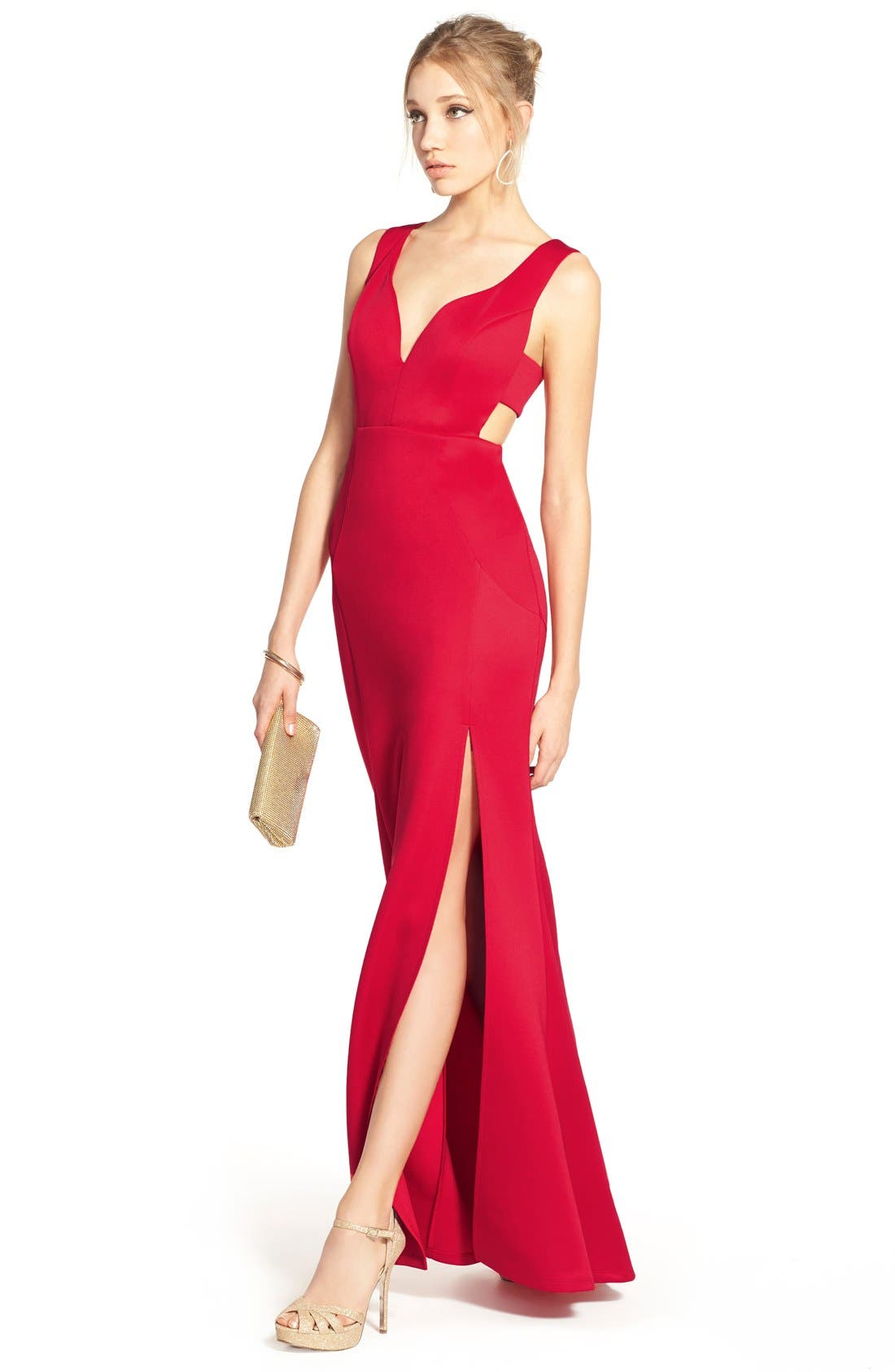 ,                             Side Cutout Gown,                             Alternate thumbnail 3, color,                             625