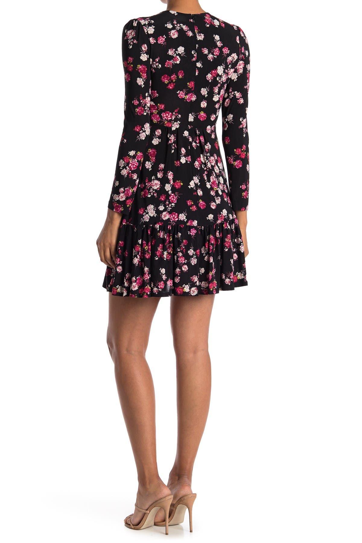 Image of Gabby Skye Long Sleeve Floral Jersey Dress