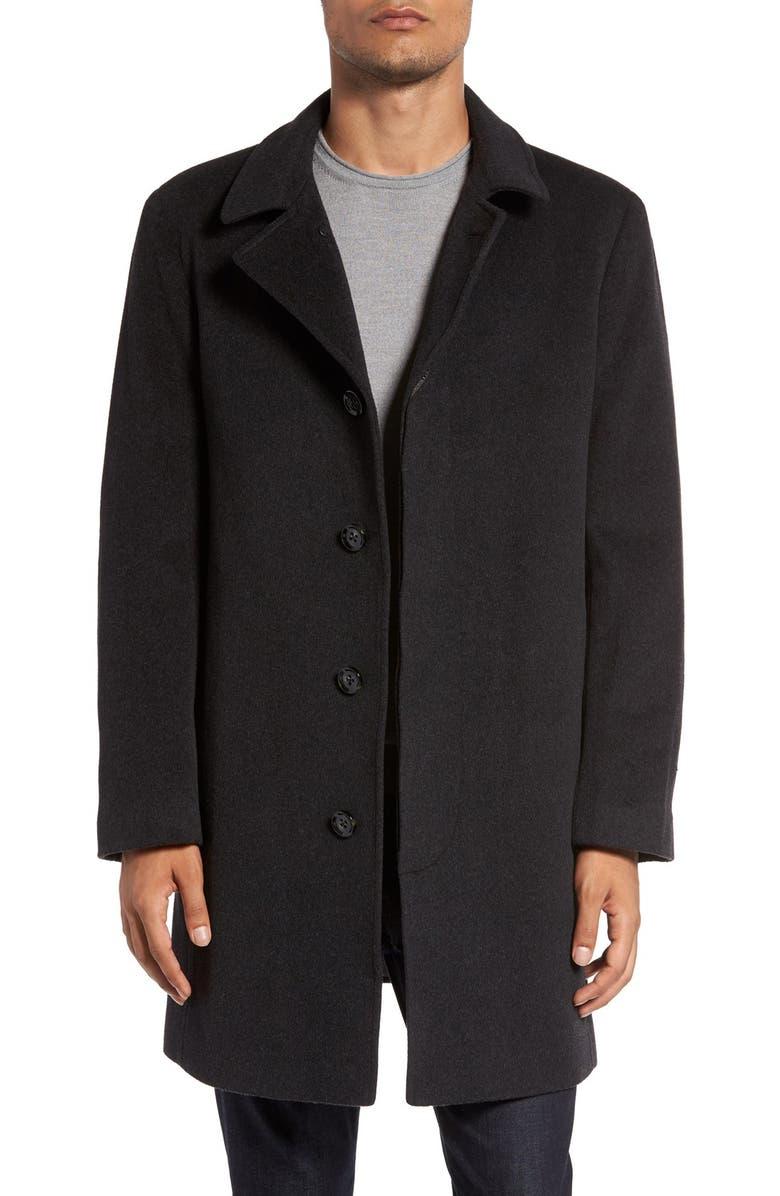 RODD & GUNN 'Archers' Wool Blend Overcoat, Main, color, GRANITE
