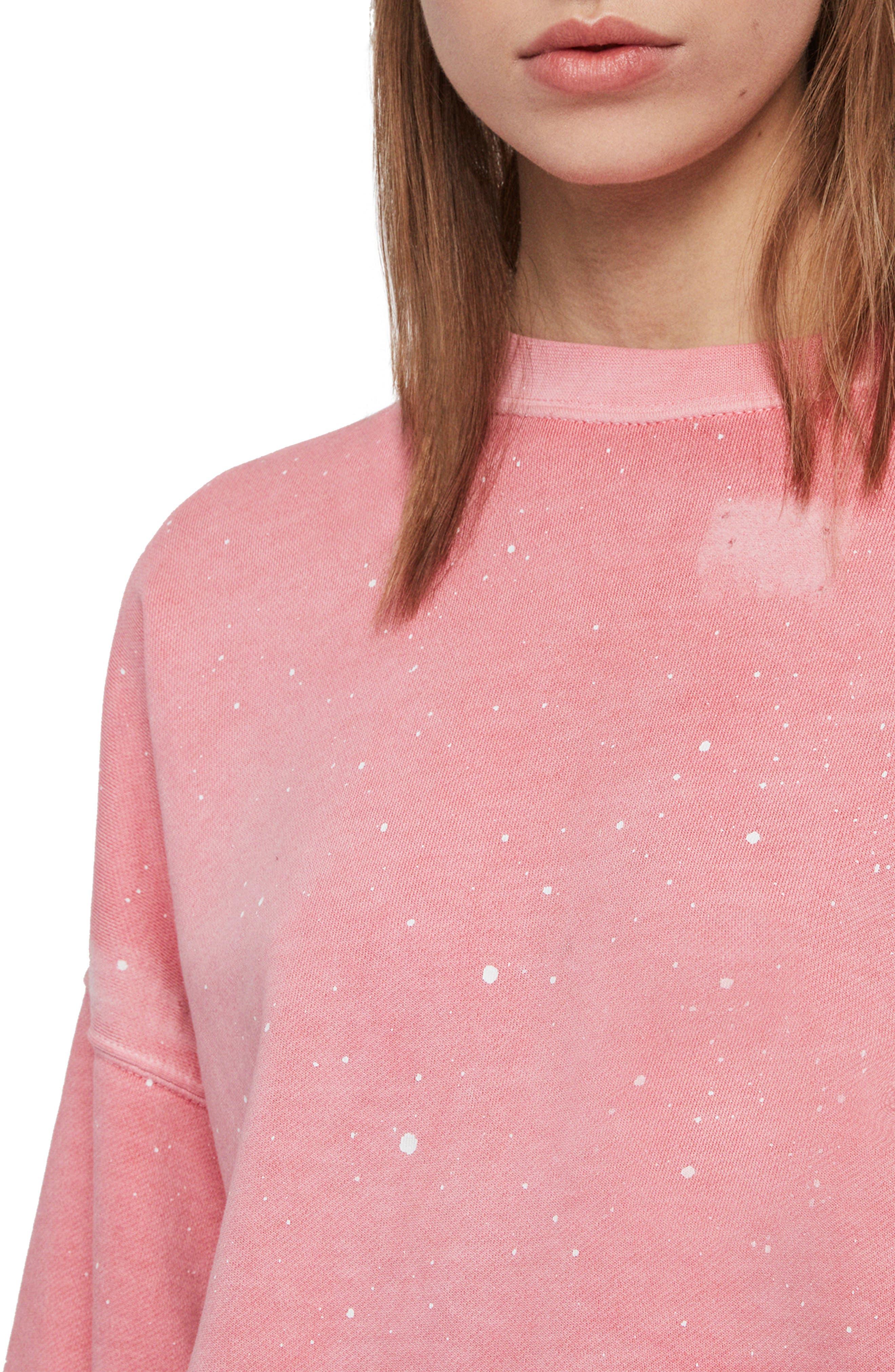 ,                             Storn Splatter Sweatshirt,                             Alternate thumbnail 4, color,                             PINK