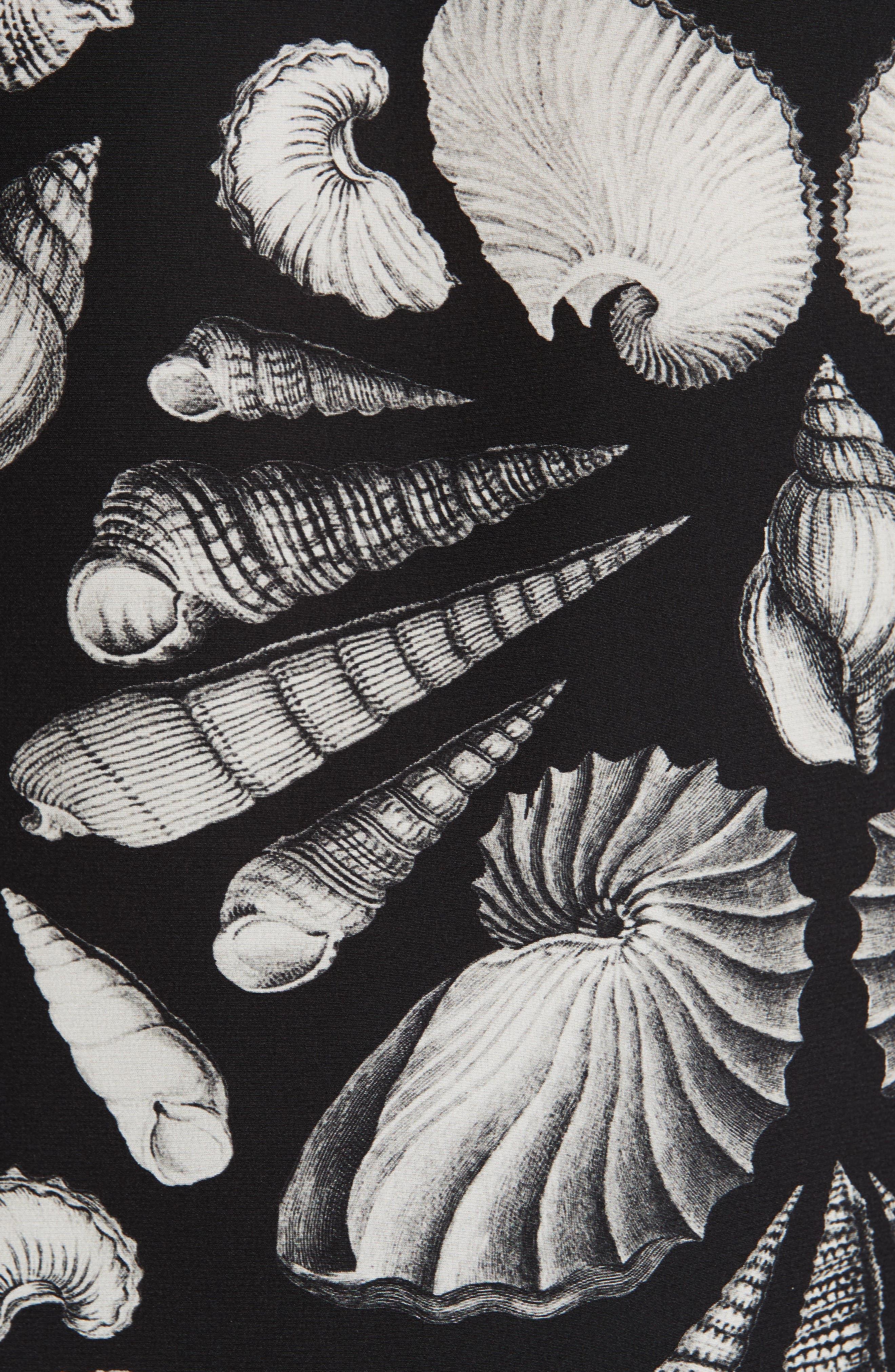 ,                             Cabinet of Shells Print Silk Blouse,                             Alternate thumbnail 6, color,                             1080 - BLACK IVORY