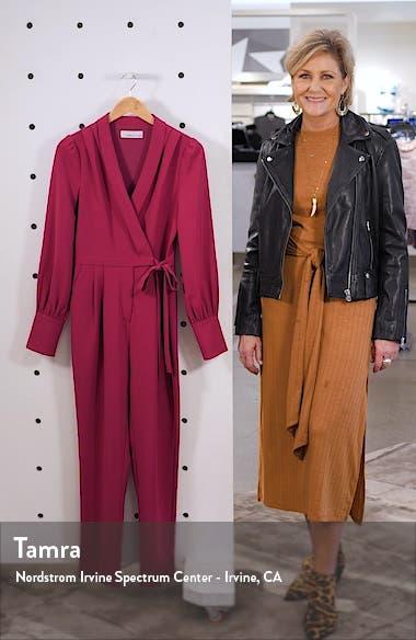 Carmela Long Sleeve Wrap Jumpsuit, sales video thumbnail