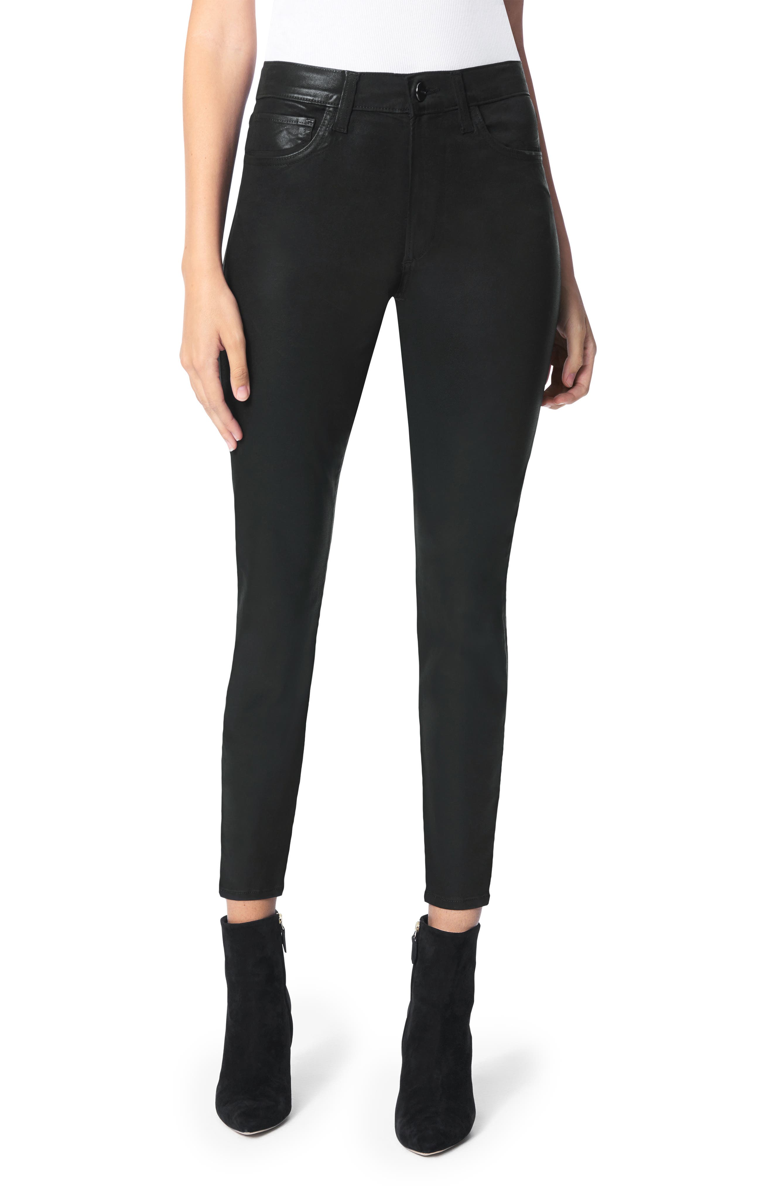 The Charlie Coated Ankle Skinny Jeans