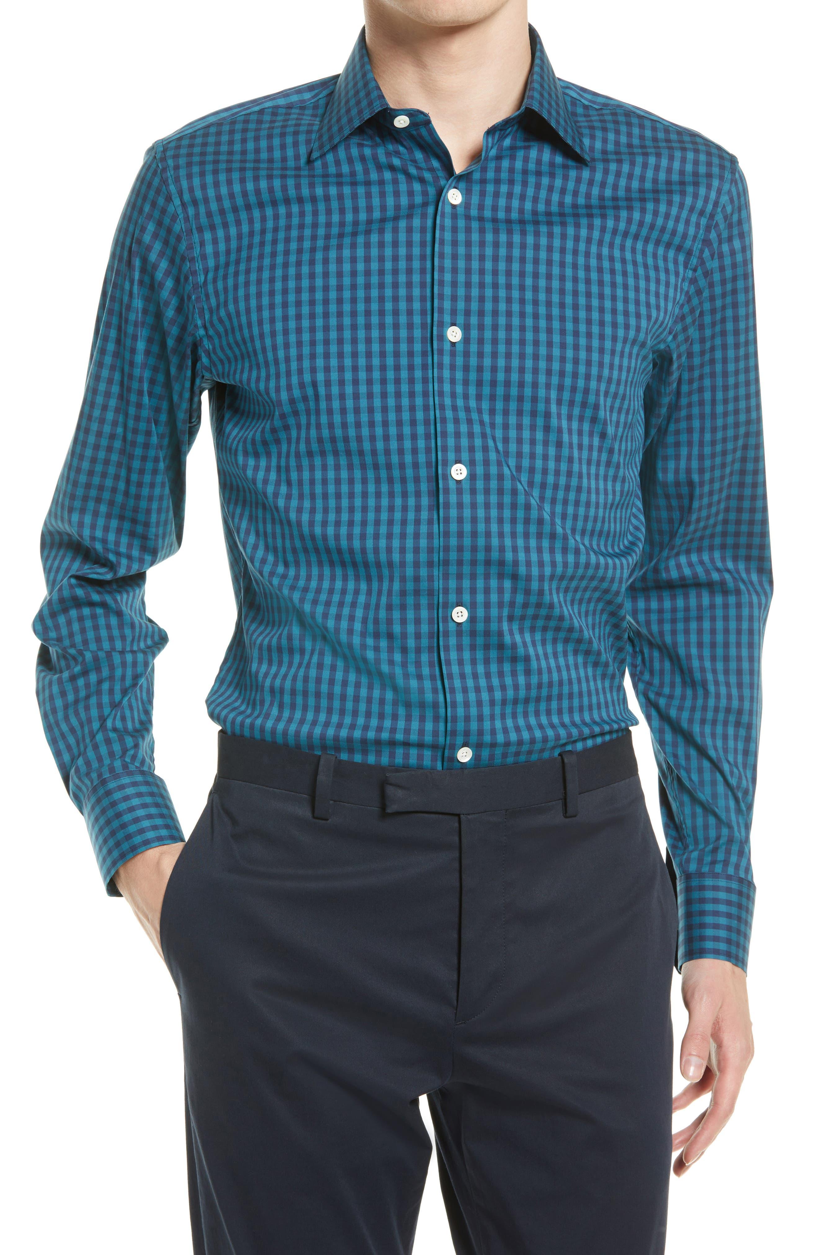 Jetsetter Slim Fit Gingham Stretch Dress Shirt