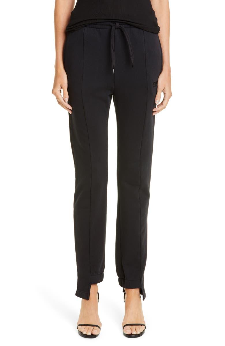 VETEMENTS Cut Up Sweatpants, Main, color, BLACK