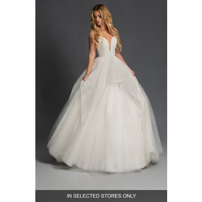 Blush By Hayley Paige Nahla Strapless Tulle Wedding Dress, Size IN STORE ONLY - Ivory