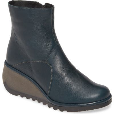 Fly London Nest Wedge Bootie, Blue
