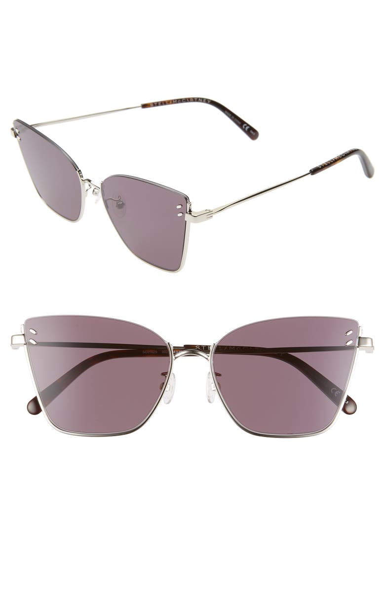 STELLA MCCARTNEY 58mm Cat Eye Sunglasses, Main, color, 040
