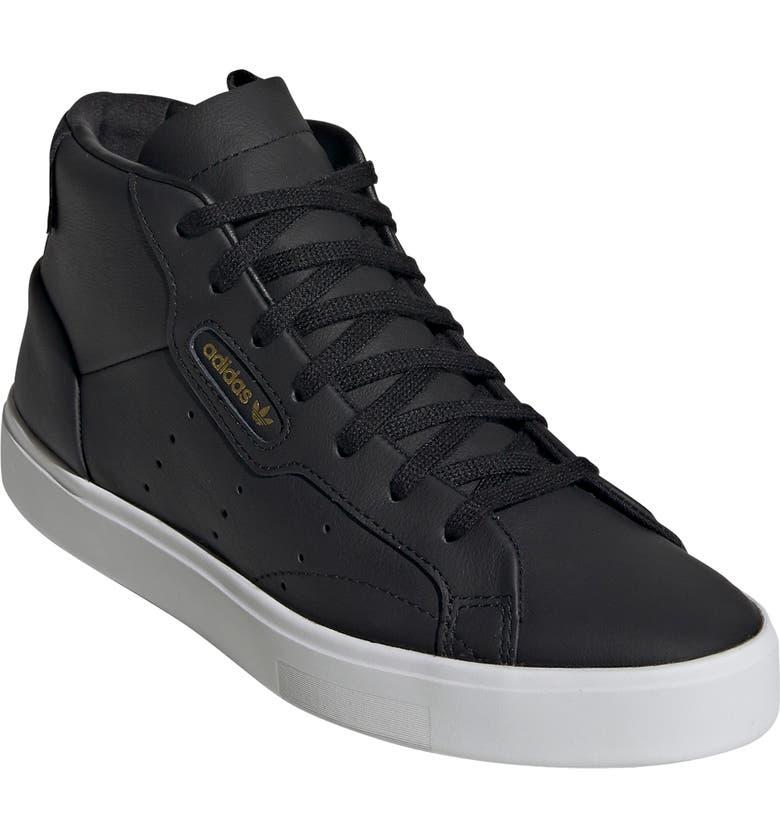 ADIDAS Sleek Mid Sneaker, Main, color, CORE BLACK/ CRYSTAL WHITE