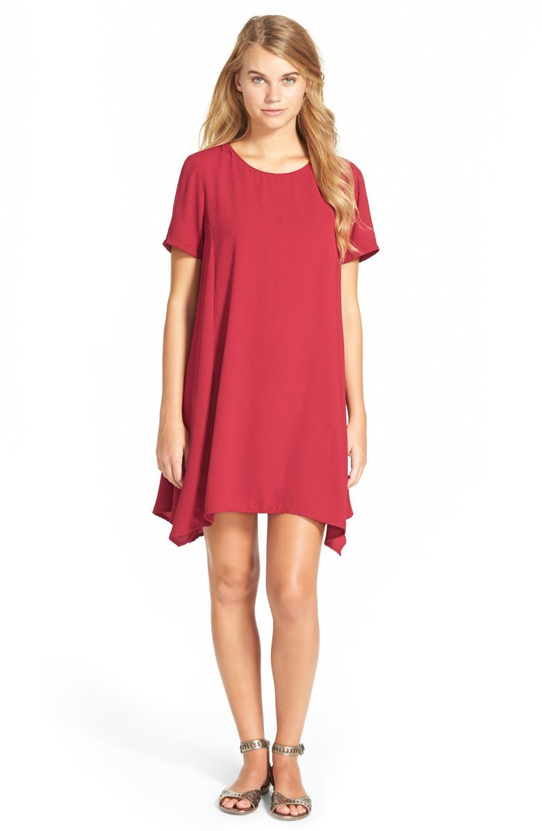 ONE CLOTHING Short Sleeve Swing Dress, Main, color, 609