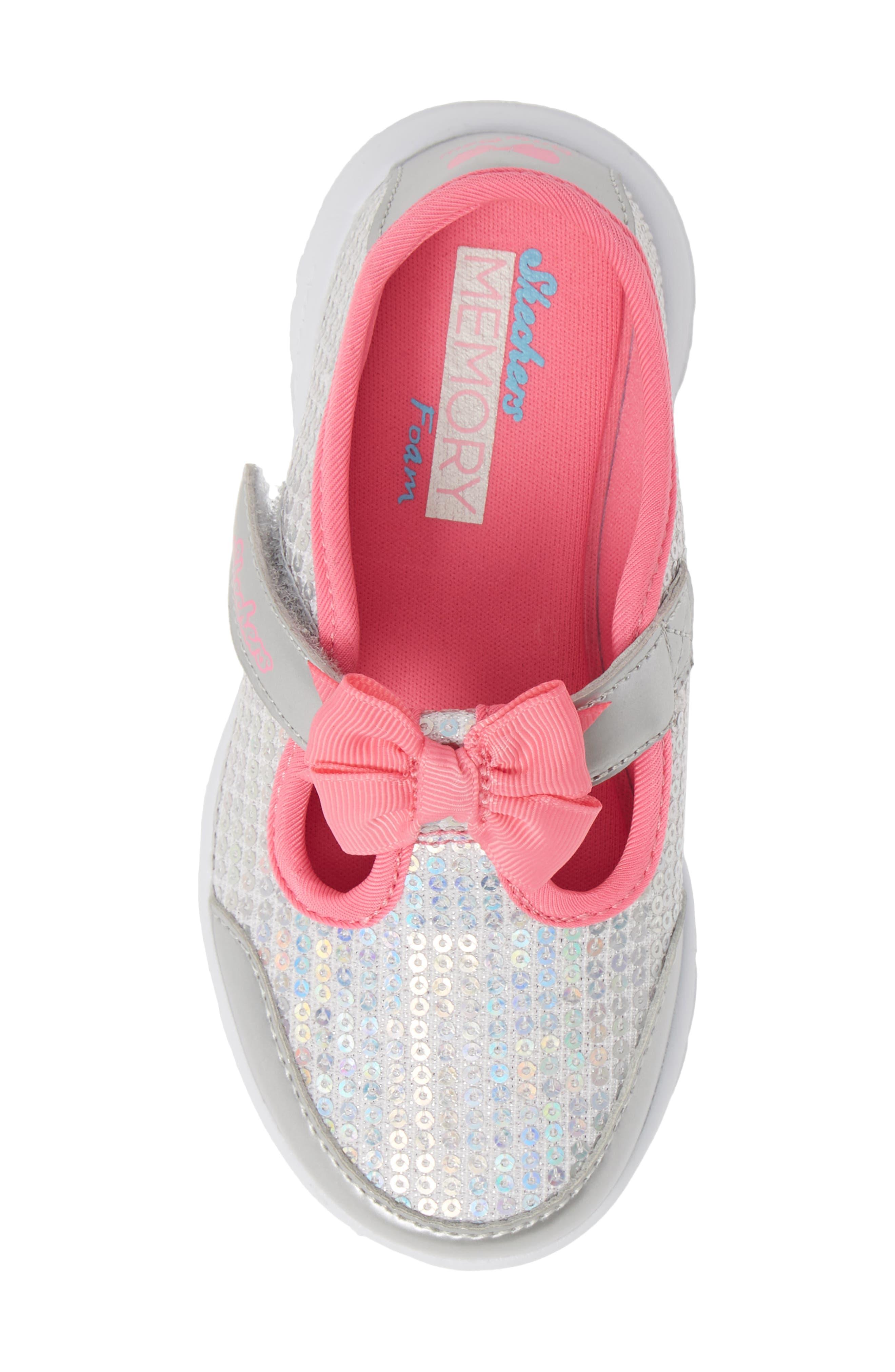 ,                             GOwalk Joy Sequin Sneaker,                             Alternate thumbnail 5, color,                             SILVER/ MULTI