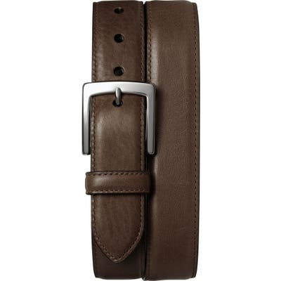 Shinola Bedrock Leather Belt, Dark Brown