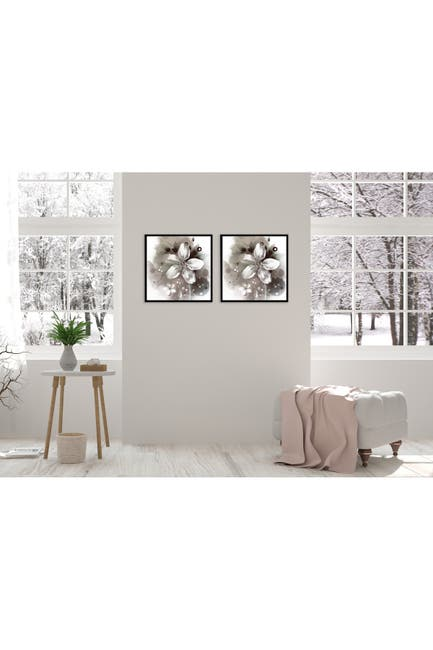"Image of Chic Home Bedding Magnolia 2-Piece Wall Art - 15.5""x31"""