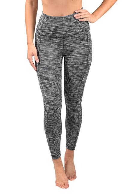 Image of 90 Degree By Reflex Space Dye High Rise Side Pocket Ankle Leggings