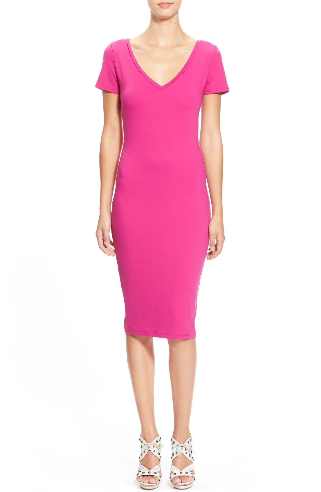 ,                             V-Neck Body-Con Dress,                             Main thumbnail 37, color,                             651