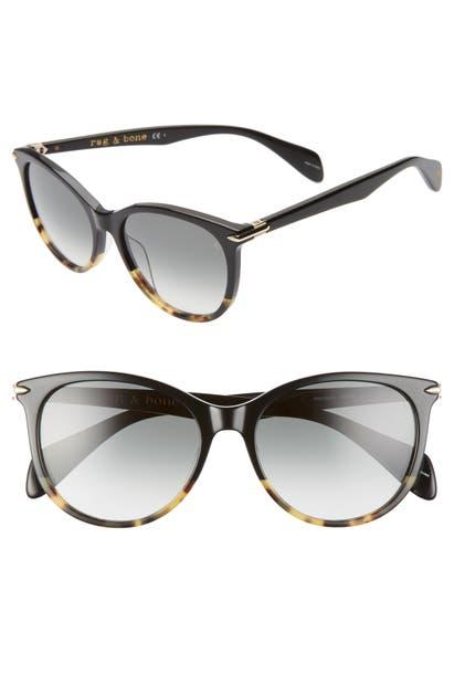 Rag & Bone Sunglasses 54MM POLARIZED ROUND SUNGLASSES - BLACK HAVANA/ GREY GREEN