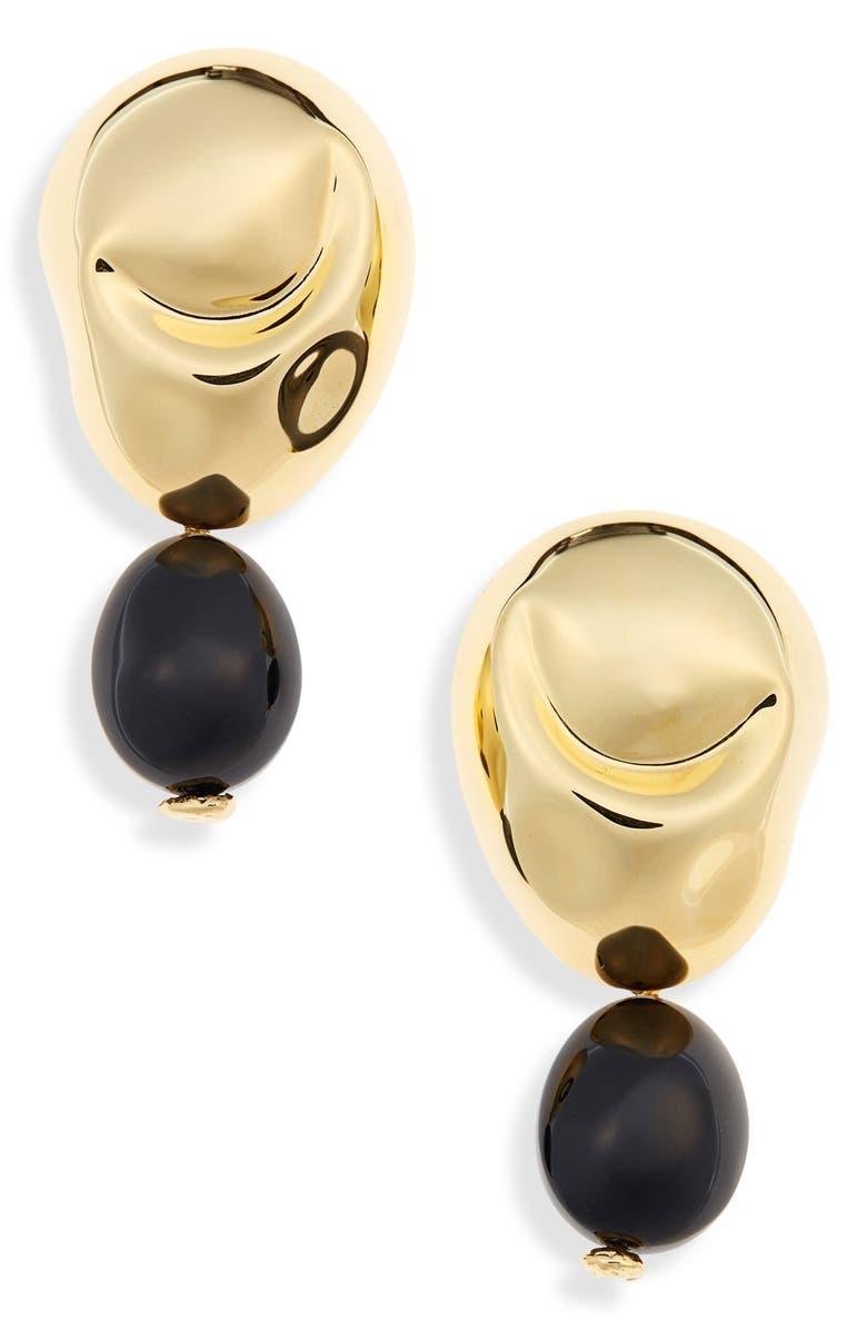 MONICA SORDO Drop Earrings, Main, color, GOLD/ BLACK