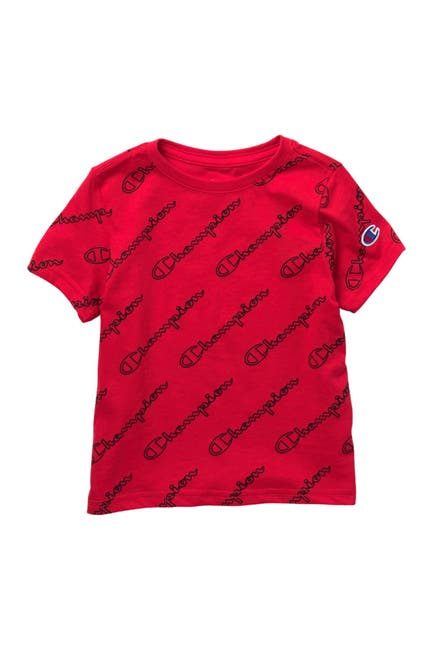 Image of Champion Open Diagonal Logo Script T-Shirt