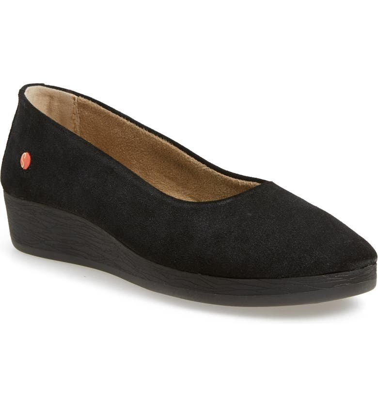 SOFTINOS BY FLY LONDON Asa Soft Flat, Main, color, ANTHRACITE GRIFFON LEATHER