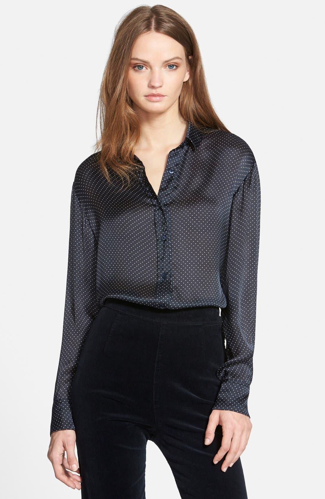 ,                             Alexa Chung for AG 'Dottie' Silk Shirt,                             Main thumbnail 1, color,                             401