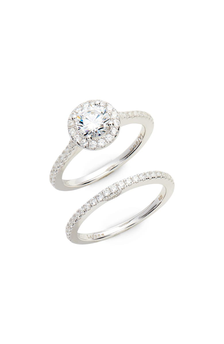 LAFONN Joined at the Heart Halo Ring, Main, color, SILVER/ CLEAR