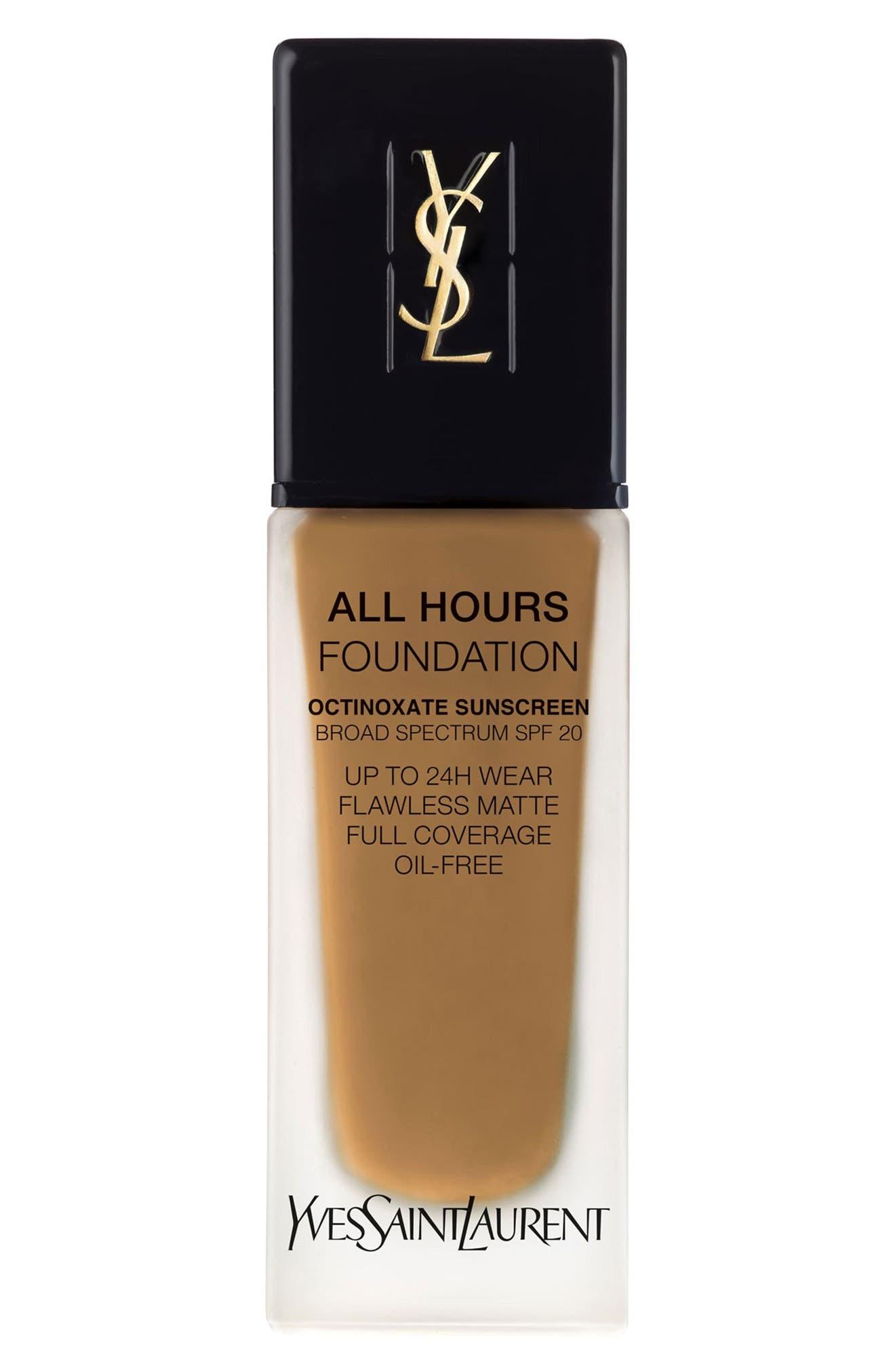 Yves Saint Laurent All Hours Full Coverage Matte Foundation Spf 20 - B75 Hazelnut