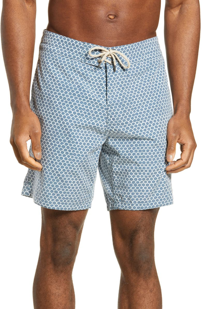 Faherty Fishscale Batik Board Shorts