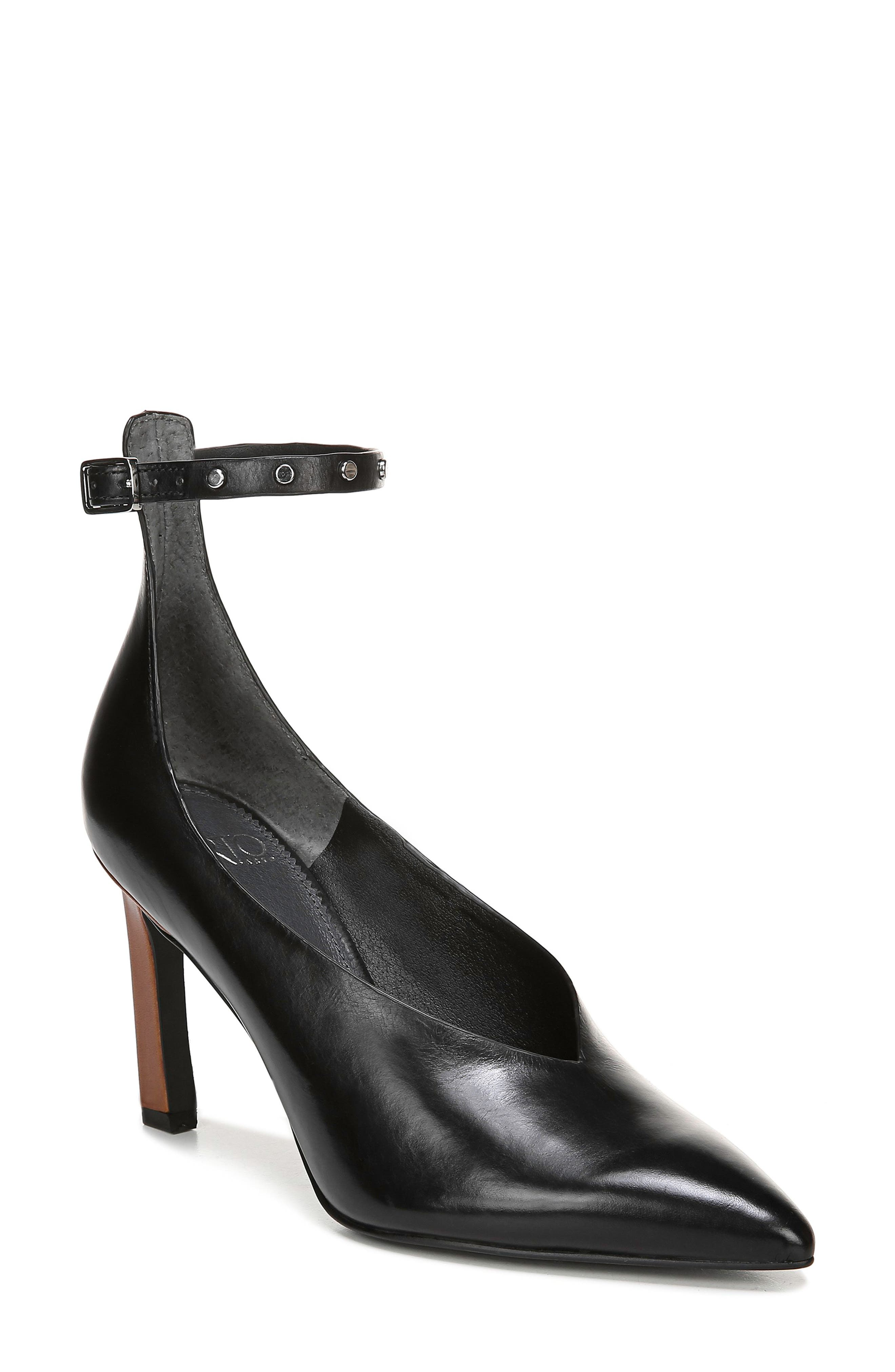 Sarto By Franco Sarto Sarah Ankle Strap Pump, Black