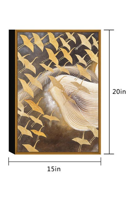 "Image of Chic Home Bedding Flying Birds Wall Art - 20""x15"""