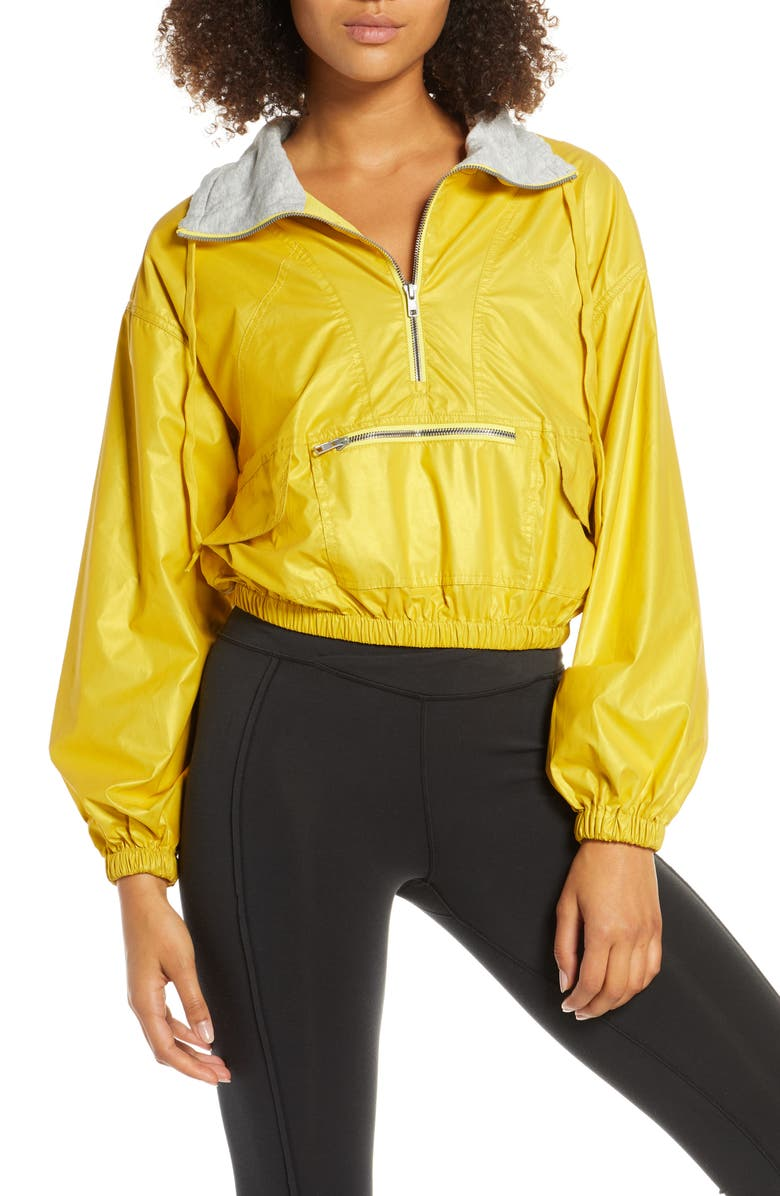 FREE PEOPLE MOVEMENT Moonlight Reflective Jacket, Main, color, YELLOW