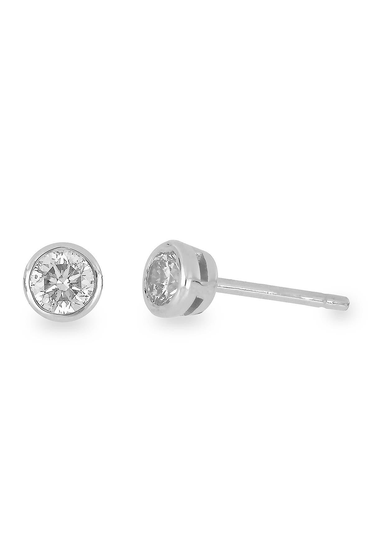 Image of Bony Levy 14K White Gold Bezel Set Diamond Stud Earrings - 0.33 ctw