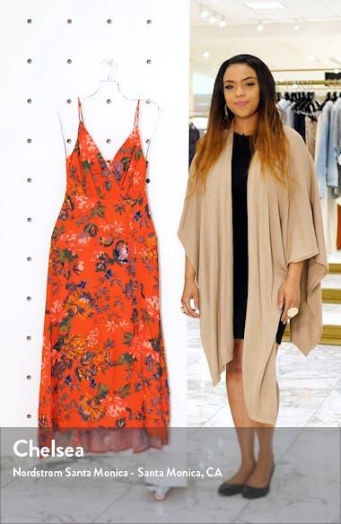 Catya Front Button Faux Wrap Dress, sales video thumbnail
