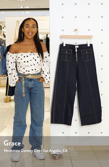 Azure Crop Wide Leg Jeans, sales video thumbnail