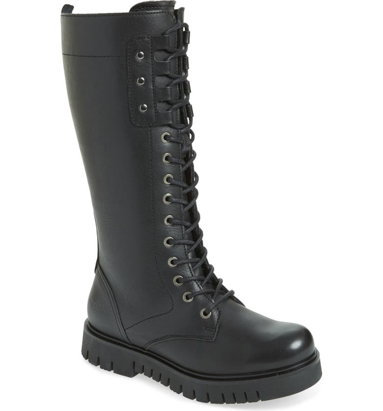 BOS. & CO. Portage Waterproof Lace-Up Boot, Main, color, BLACK LEATHER