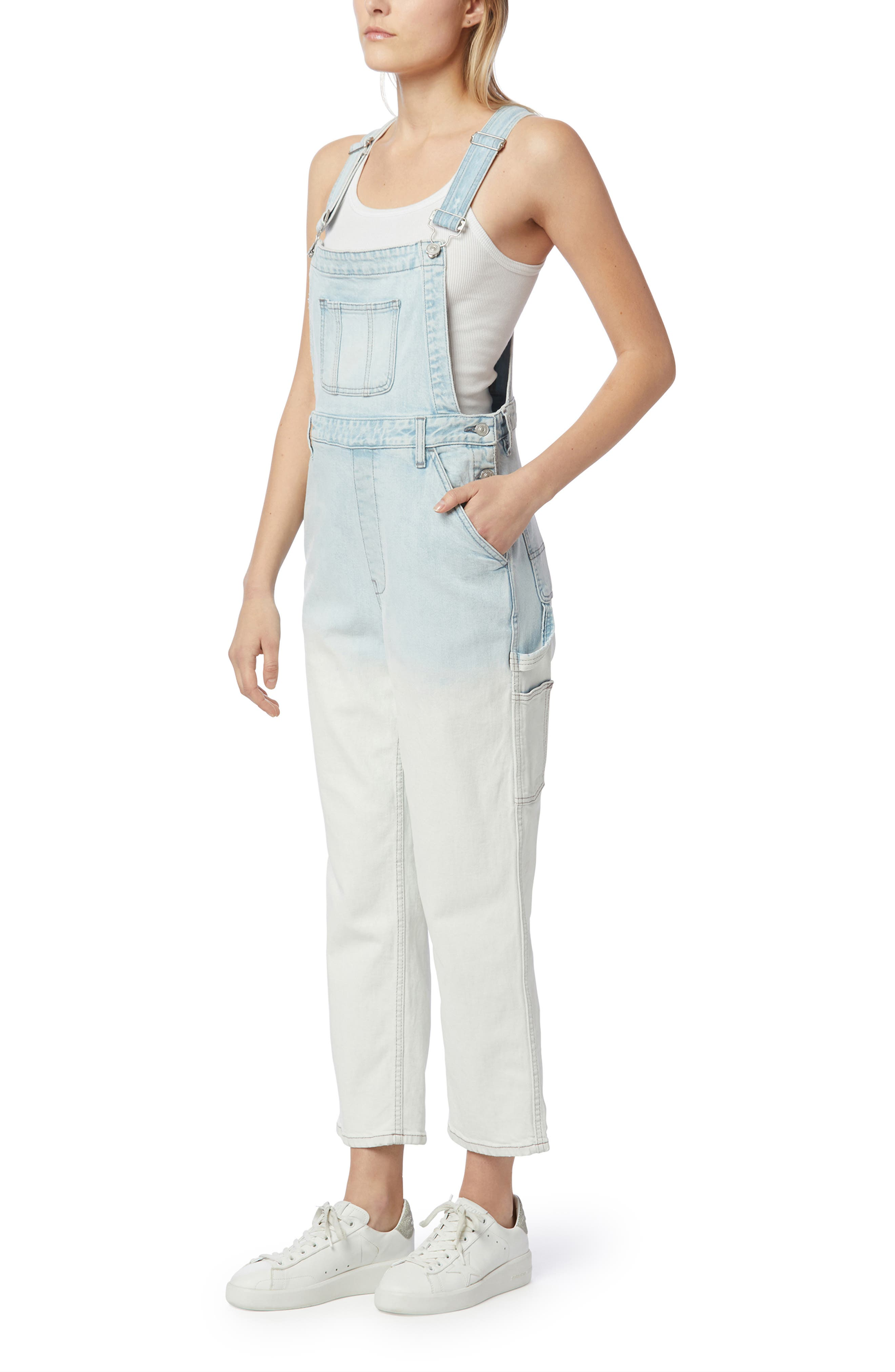 Mix Faded Ankle Overalls