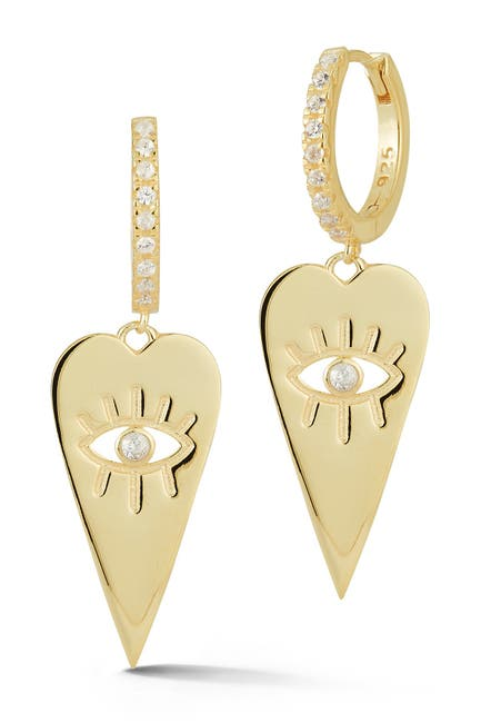 Image of Sphera Milano Gold Vermeil Heart Eye Earrings