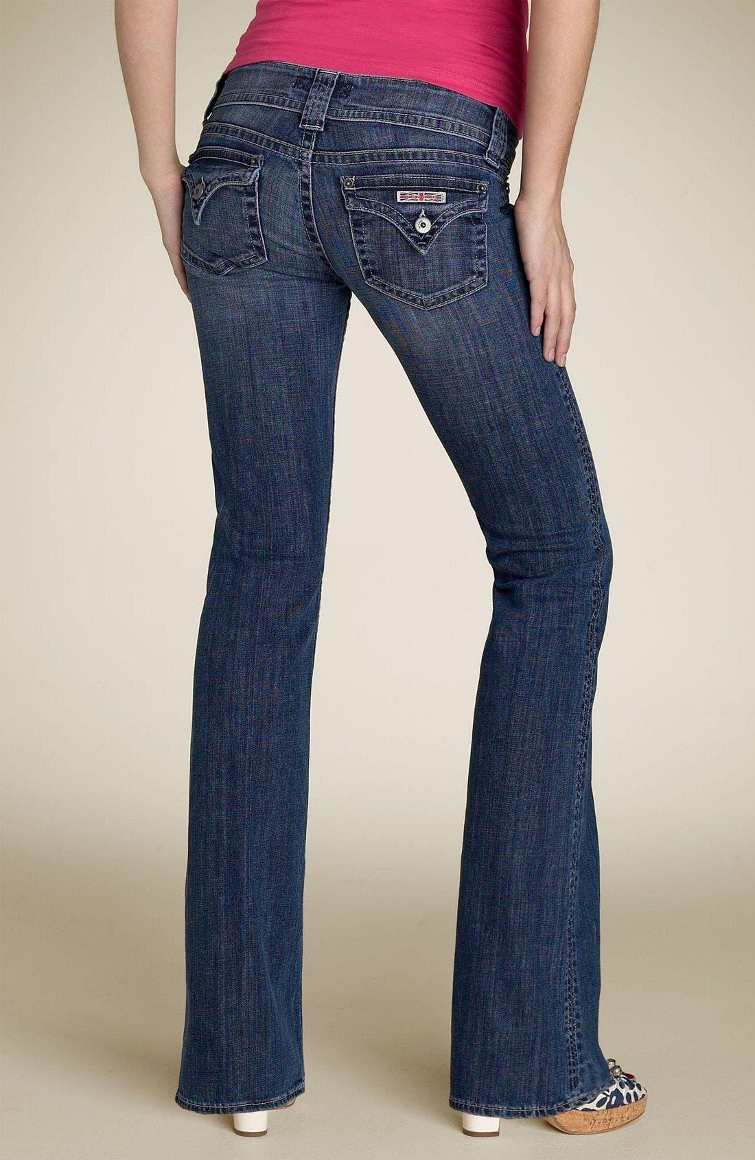 ,                             Signature Flap Pocket Bootcut Jeans,                             Alternate thumbnail 57, color,                             466