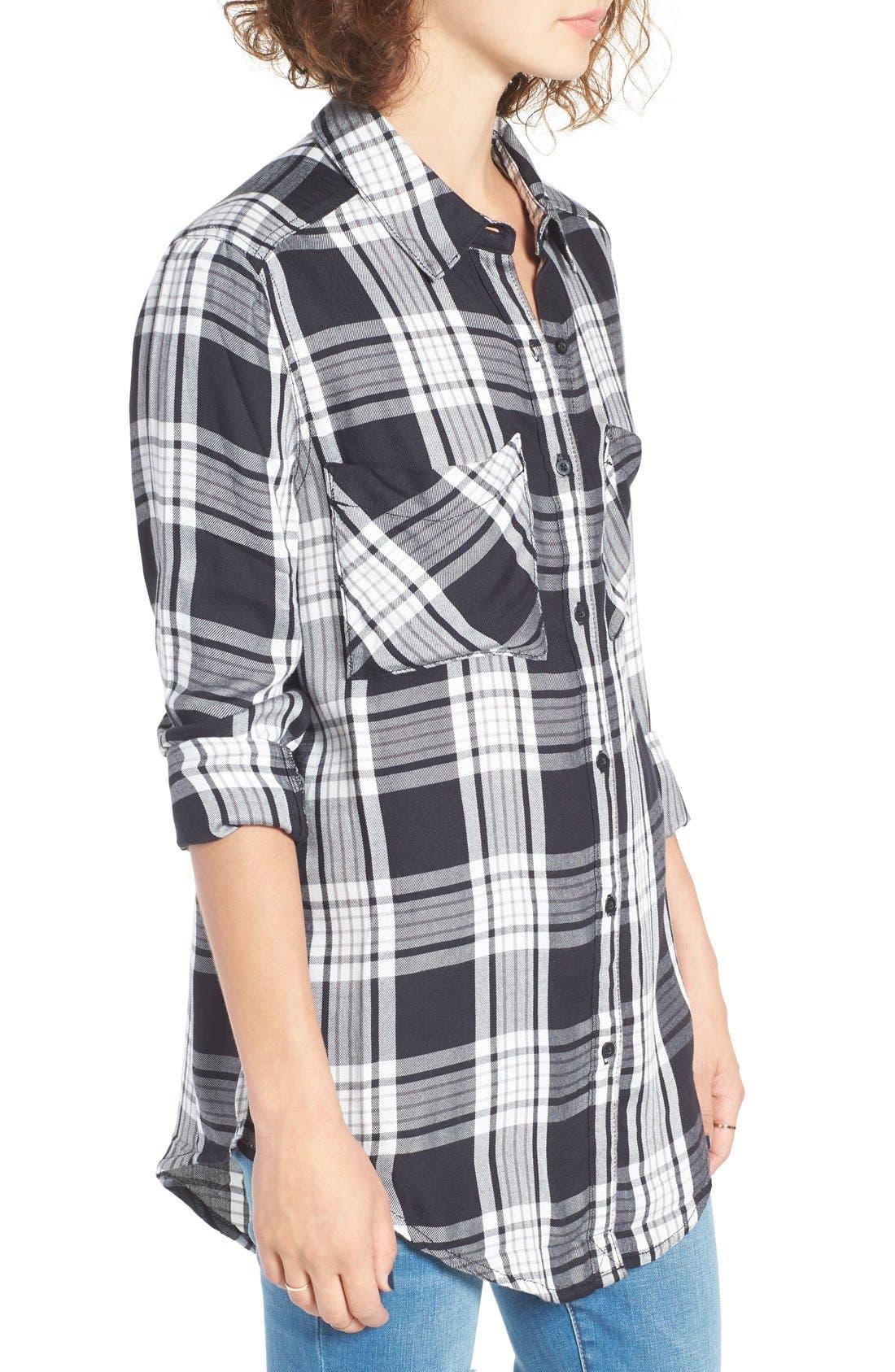 ,                             Plaid Tunic Shirt,                             Alternate thumbnail 4, color,                             001