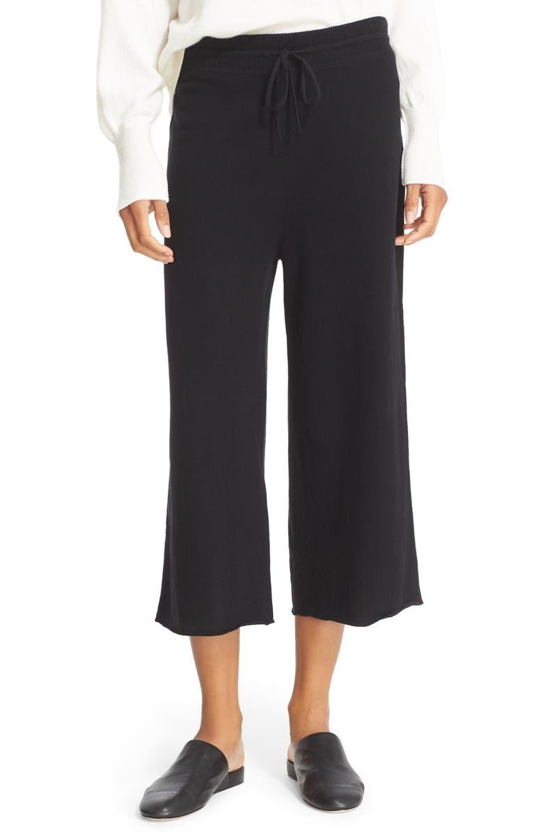 VINCE Crop Wide Leg Pants, Main, color, 001