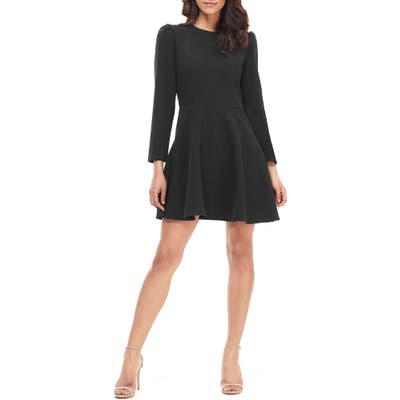 Gal Meets Glam Collection Celeste Fit & Flare Dress, 0 (similar to 16W-18W) - Black