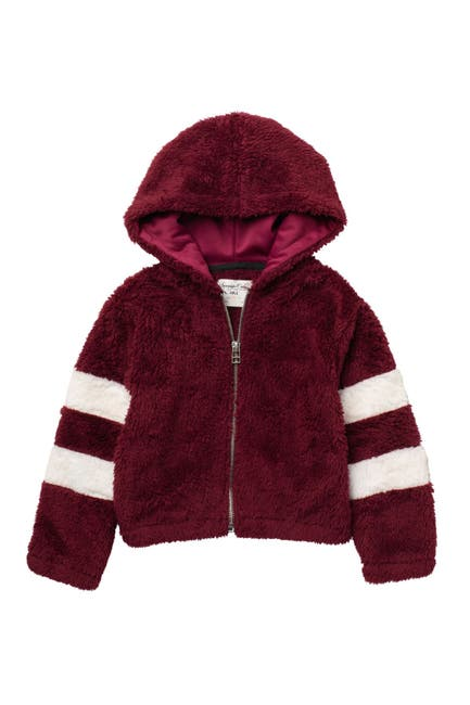 Image of Sovereign Code Cassia Faux Fur Zip Hooded Jacket