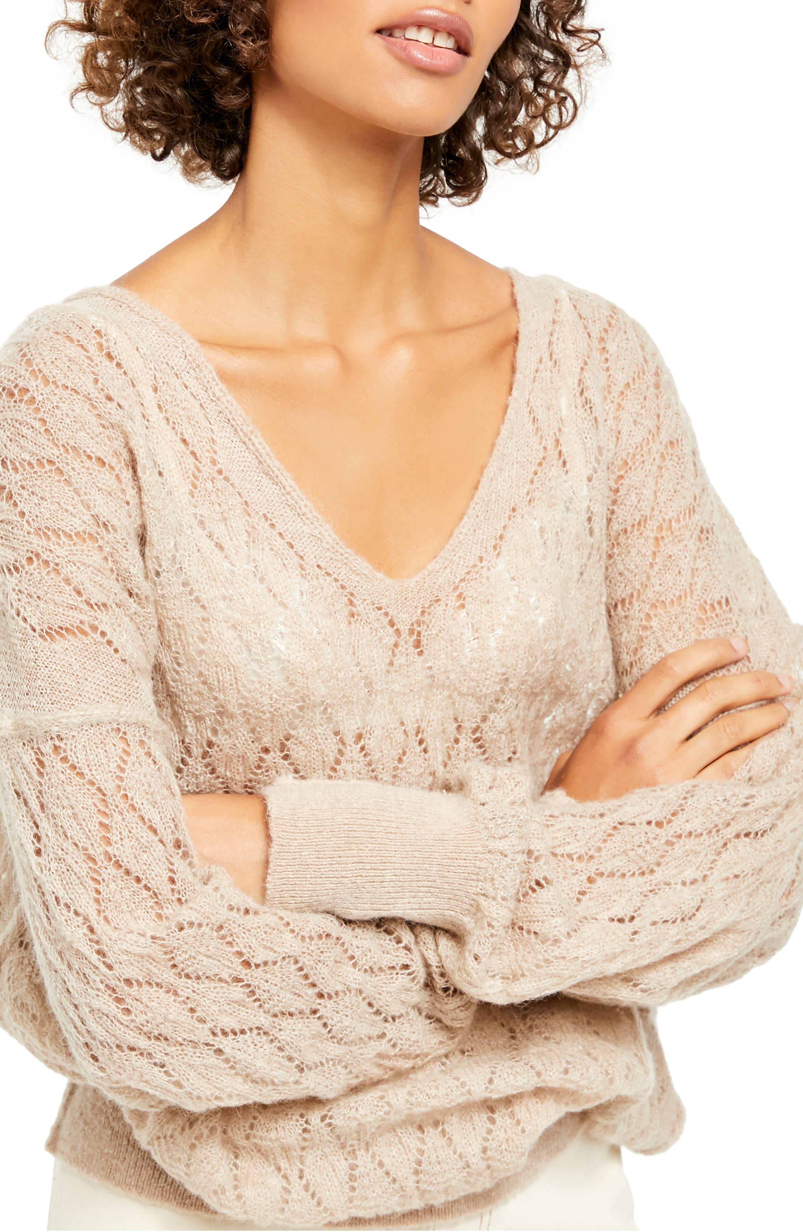 Image of Free People Say Hello Oversized Tunic Sweater