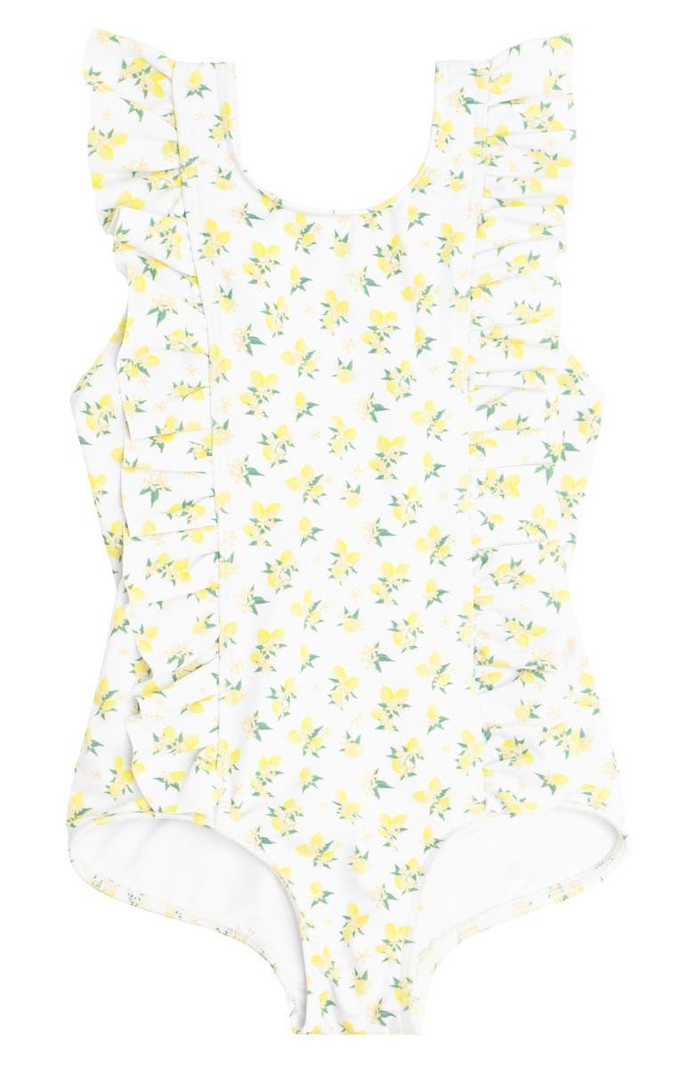 2124bebc2fe59 Lemon Drop Ruffle One-Piece Swimsuit, Main, color, YELLOW