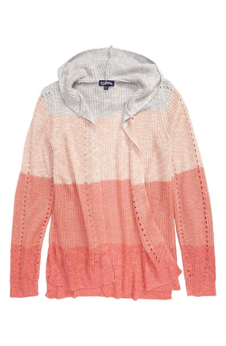 FRESHMAN Knit Hooded Cardigan, Main, color, 950