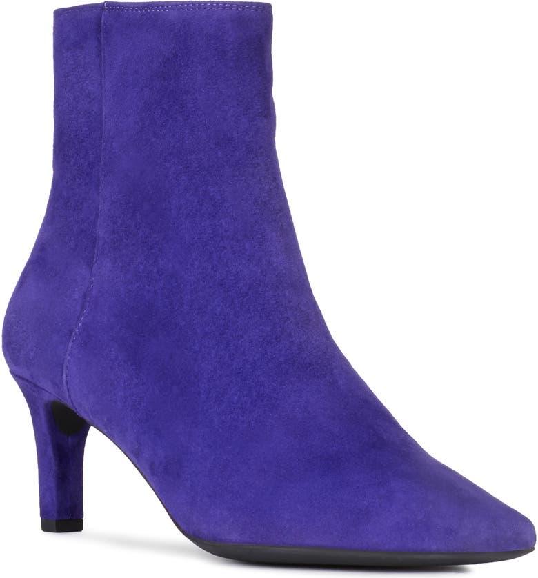 GEOX Bibbiana Pointy Toe Bootie, Main, color, VIOLET SUEDE